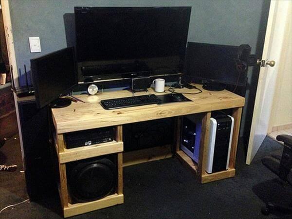 DIY Computer Desk Out of Pallets