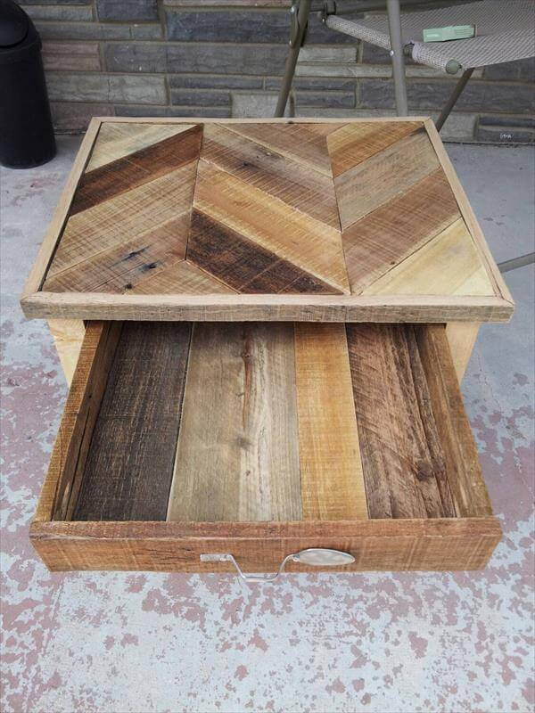 How To Make A Bench Out Of Pallets DIY Pallet Nightstand......Built to Inspire | 101 Pallets