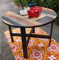 DIY Pallet Round Dining Table / Kitchen Table | 101 Pallets