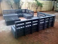 Superb Pallet Patio Furniture Set | 101 Pallets
