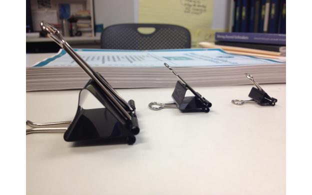 Binder Clips Large, Medium, Small - 101qs
