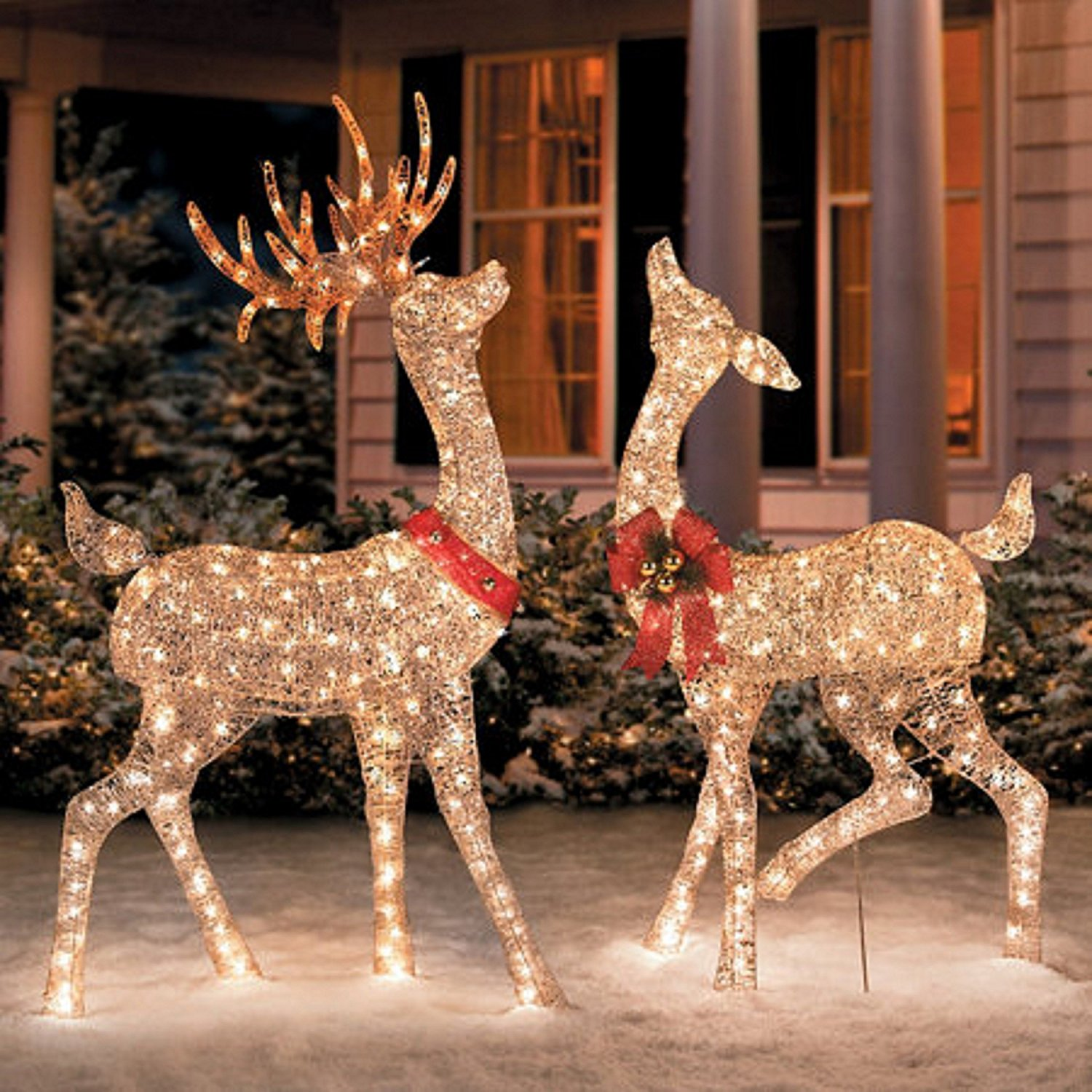 How to decorate for christmas outdoors - Christmas Outdoor Decorations Reindeer