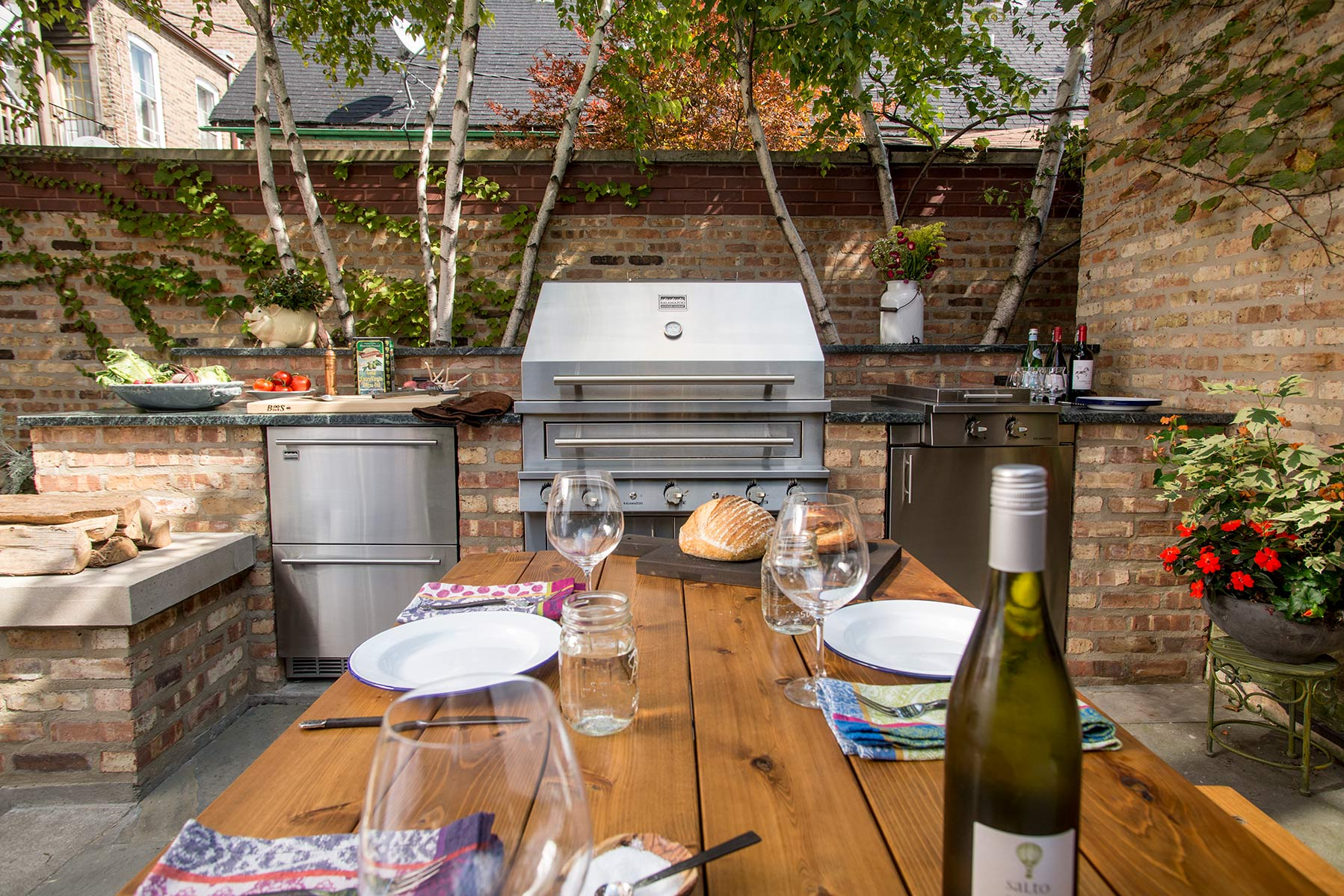 Outdoor Küche Backstein 20 Beautiful Outdoor Kitchen Ideas 101 Recycled Crafts