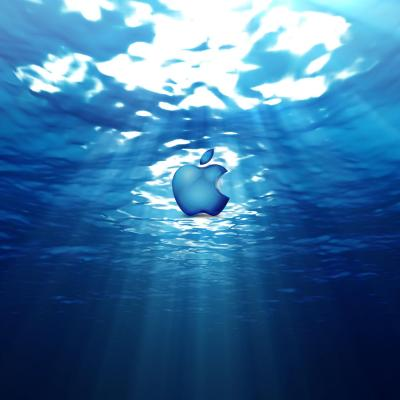 Computers - Apple Symbol In Underwater World - iPad iPhone HD Wallpaper Free