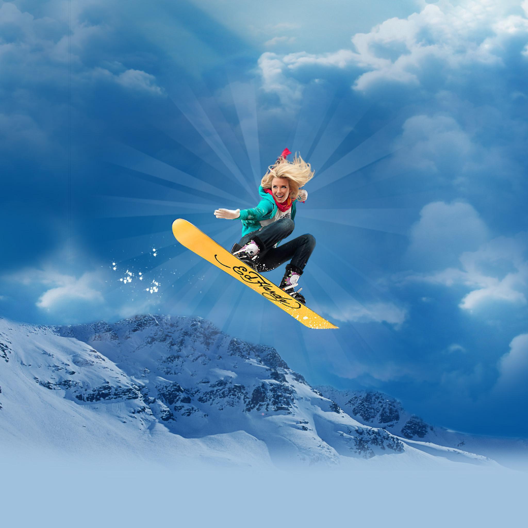 Reef Girl Wallpaper Vector Hottest Snowboard Girl Style Ipad Iphone Hd