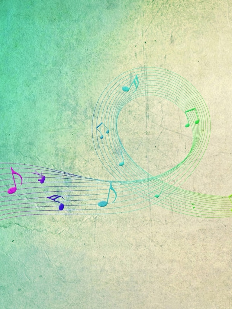 Tribal Cute Wallpaper Vector Colorful Music Notes Background Ipad Iphone Hd