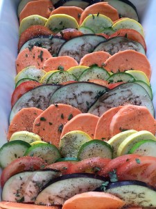 layers of vegetables