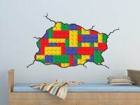 Lego Style Wall Decal - on Luulla