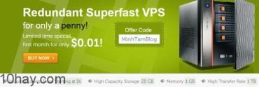 InterServer Coupon giảm giá chỉ 0.01$ VPS và Hosting