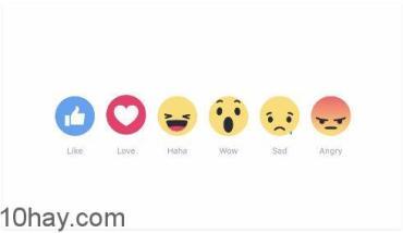 Facebook thêm 5 nút cảm xúc mới ngoài nút LIKE