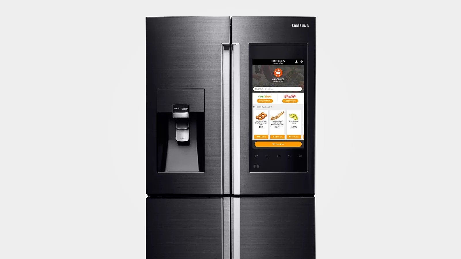 Intelligenter Kühlschrank Samsungs Ces 2016 Family Hub Refrigerator Is An Over The