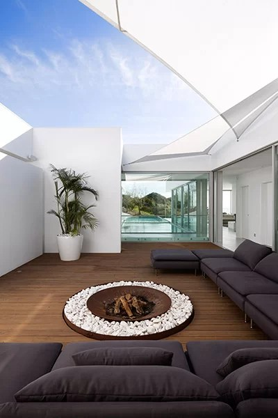 Living Room And Kitchen Combined Villa Escarpa | Stunning Bauhaus Style Home Algarve