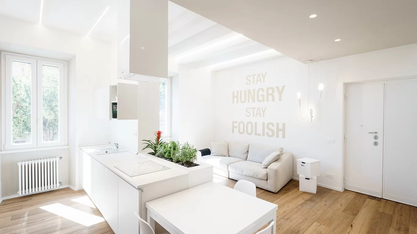 All White Apartment Minimalist Apartment With All White Interior In Rome By
