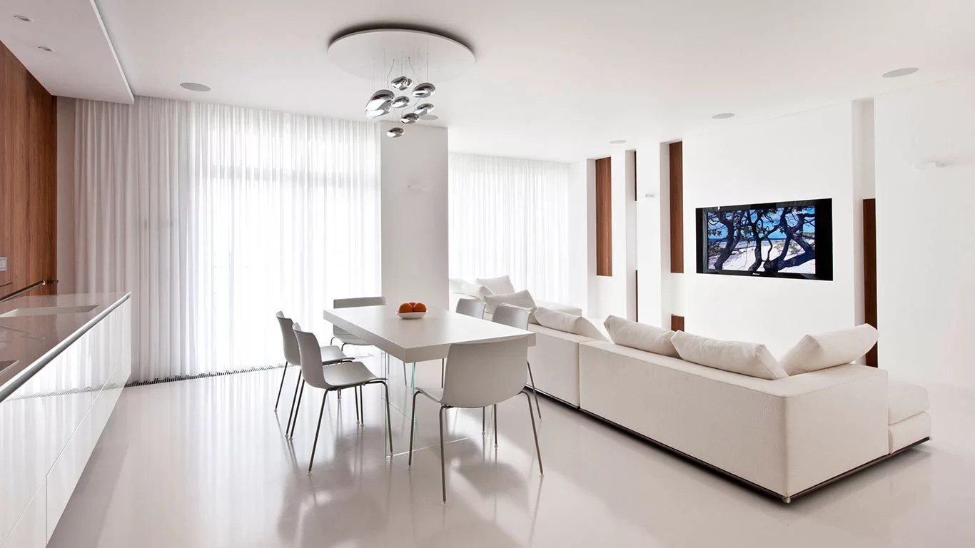 All White Apartment Modern Moscow Apartment With All White Interior By