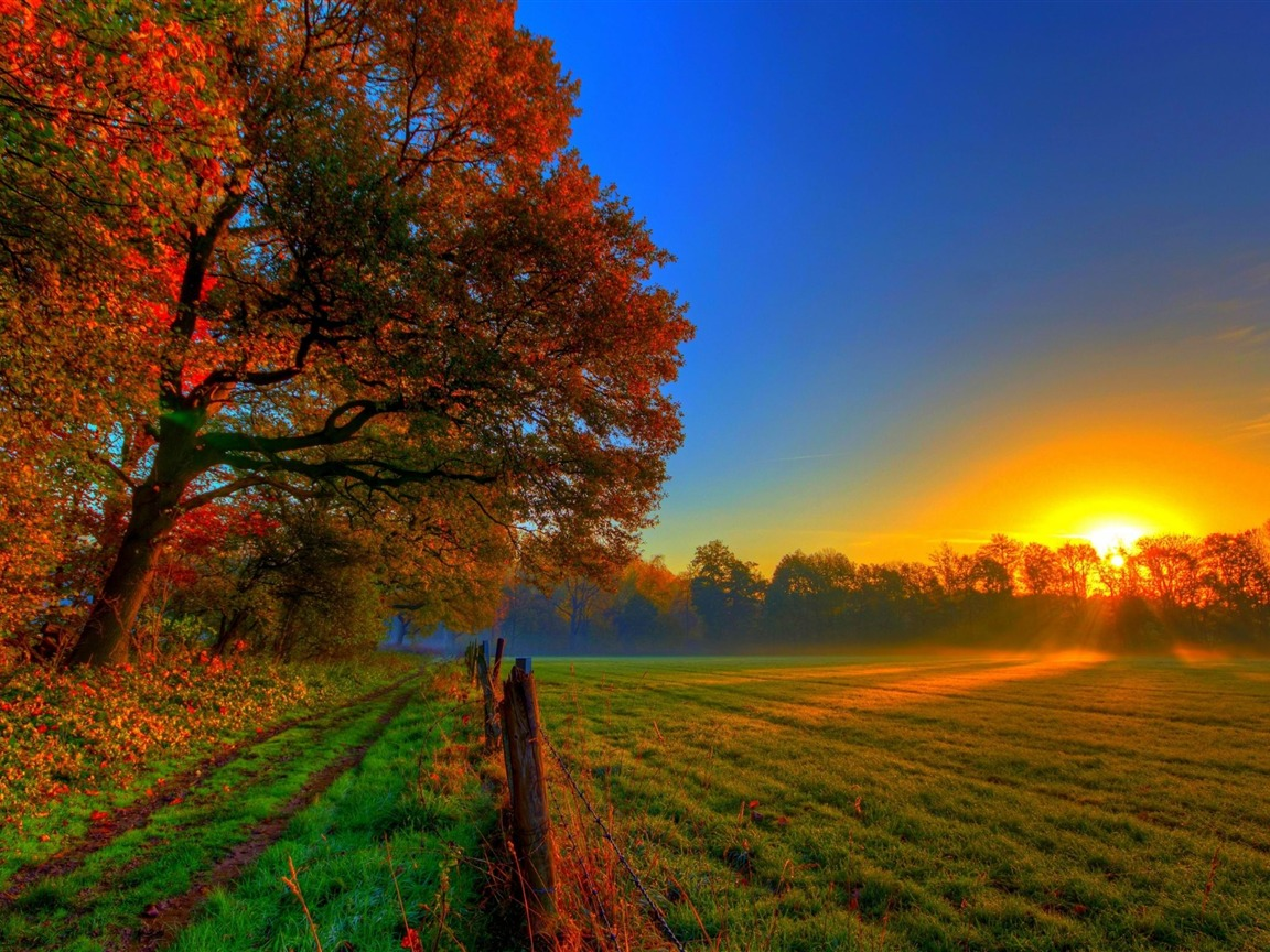 Fall Farm Desktop Wallpaper Fall Sunset Scenery Pictures To Pin On Pinterest Thepinsta