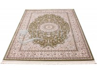 High-density carpet Esfahan 4878A green-ivory at the best ...