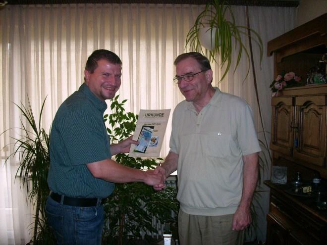 WM 2010 Rekordsieger Manfred mit 72 Punkten