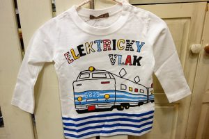 Nico hrat 特急電車T オフホワイトxボーダー ¥2000+税