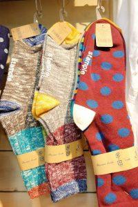 STAMPLE 大人も履けるLLサイズ(22~24cm) 左二つの杢ソックス:2P ¥1000+税 右ドット柄:3P ¥1200+税