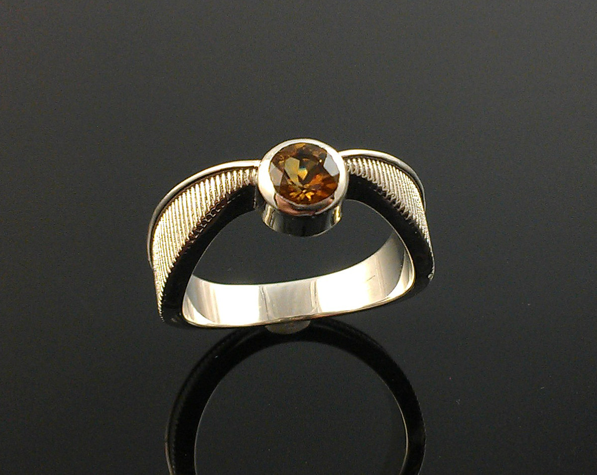 33 geeky engagement rings offbeat bride harry potter wedding bands Harry Potter Golden Snitch Engagement Ring