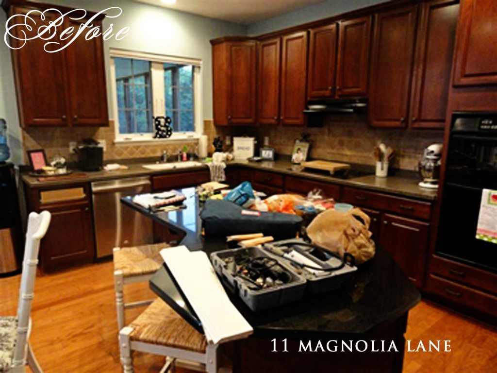 Paint My Kitchen Cabinets Kitchen Redo Reveal From Darkness To Light 11 Magnolia Lane