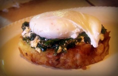 Potato Rosti with Egg Florentine