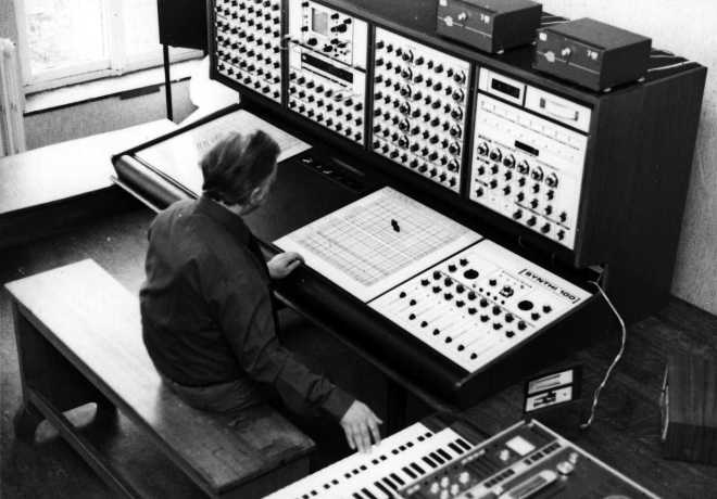 The Synthi 100 at IPEM Studios Netherlands.
