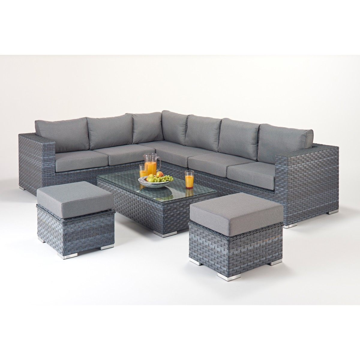Rattan Corner Sofa Reviews Rattan Set Platinum Large Corner Sofa Set Wgf 502 Left Hand