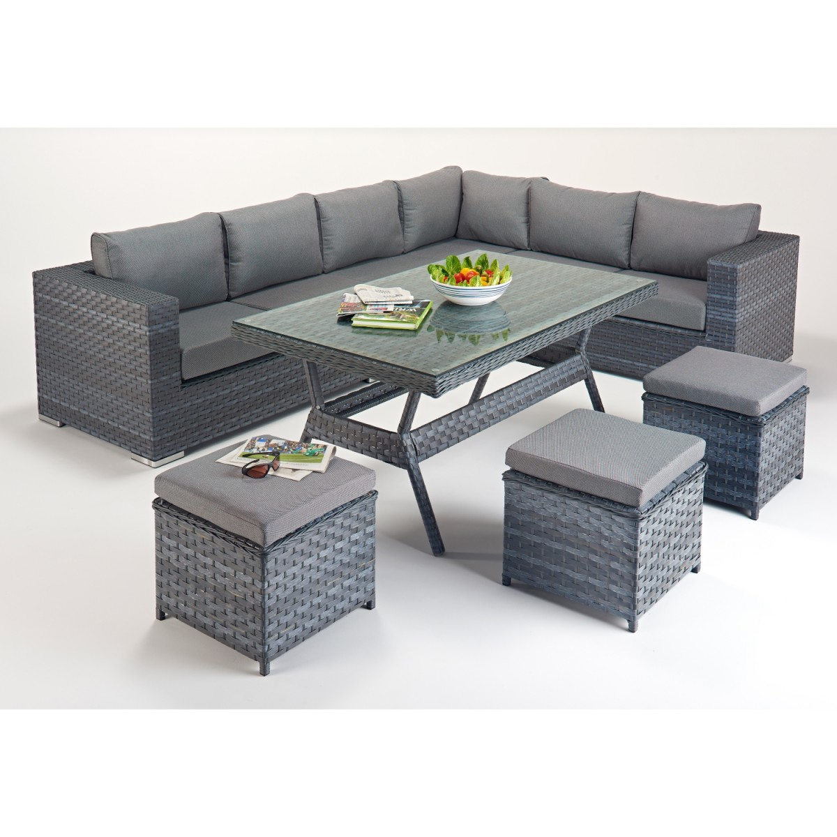 Rattan Corner Sofa Reviews Rattan Set Platinum Corner Sofa Dining Set Wgf 513 Right