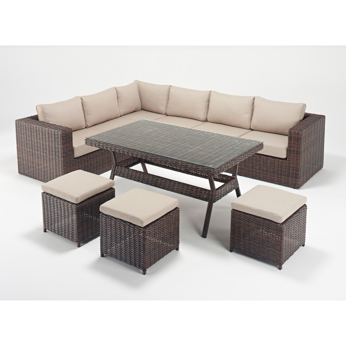 Rattan Corner Sofa Reviews Rattan Sets Windsor Corner Sofa Dining Set Wgf 2704 Left