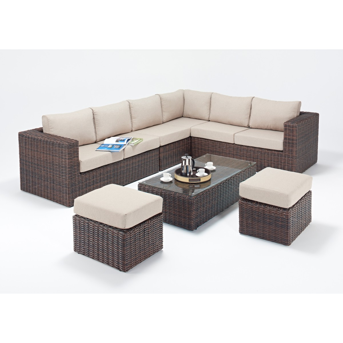 Rattan Corner Sofa Reviews Rattan Sets Windsor Large Corner Sofa Set Wgf 2710 Right