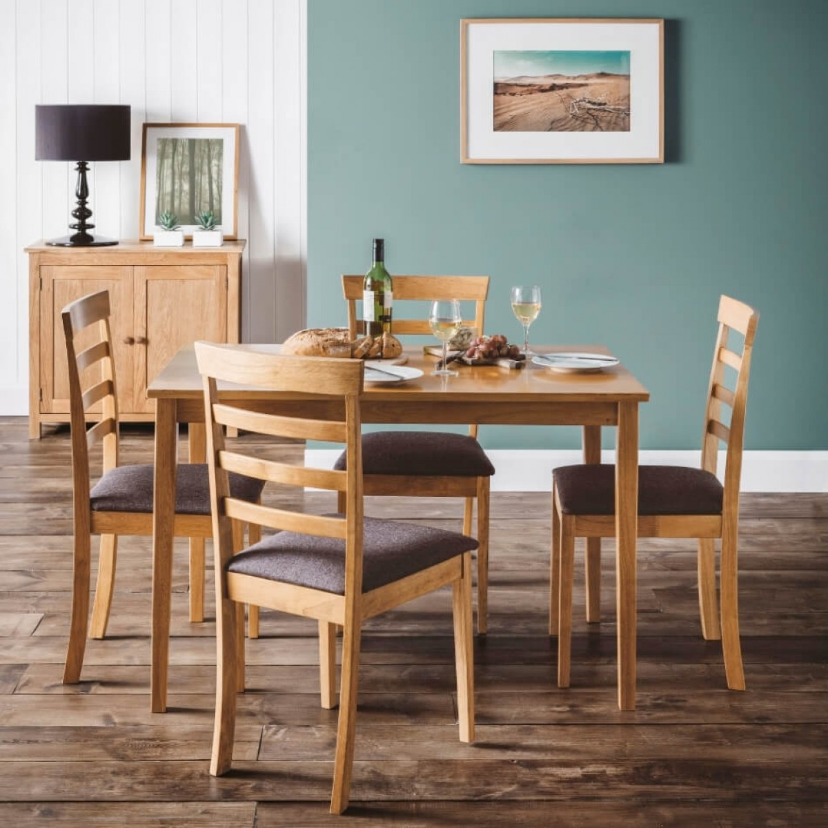 Cleo Möbel Dining Set Cleo Dining Table And 4 Dining Chairs In Oak Cle008