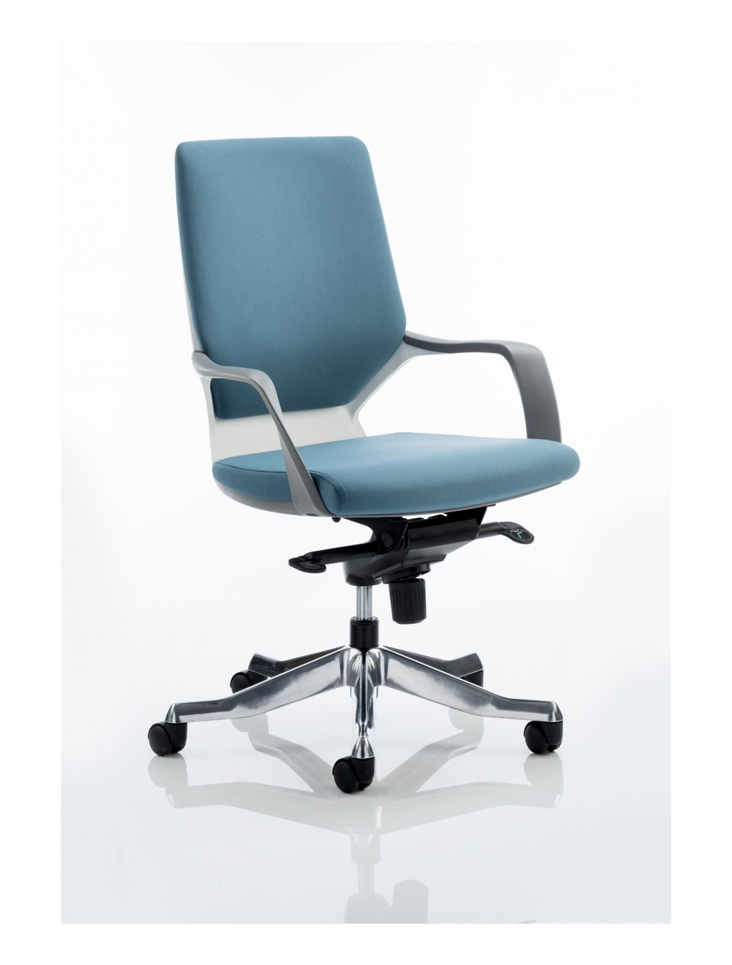 Blue Office Chair Dynamic Xenon Blue Fabric Executive Chair With White Shell
