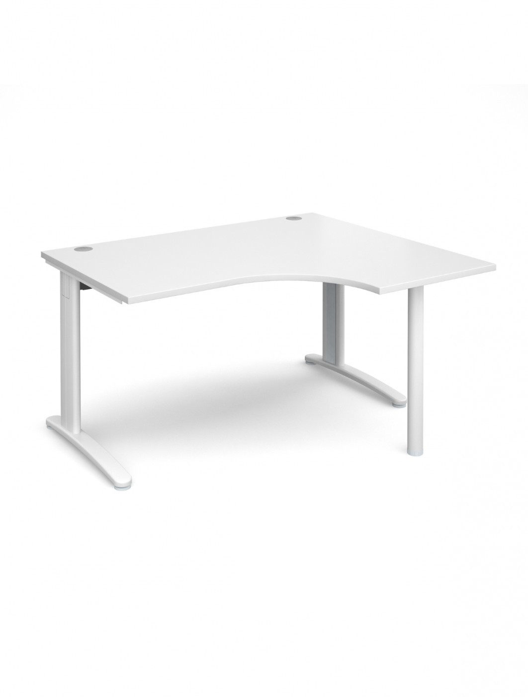 White Office Desk White Office Desk 1400mm Wide Dams Tr10 Right Hand Ergonomic Tber14wh