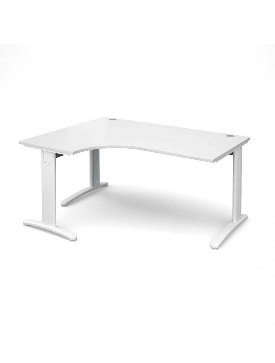 White Office Desk White Office Desk 1600mm Dams Tr10 Left Hand Ergo Deluxe Tdel16wh