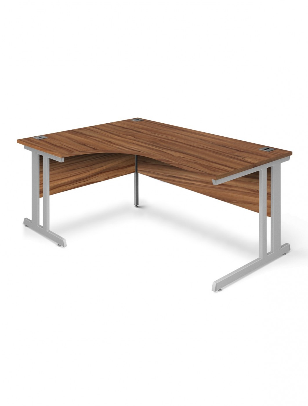 Series L Adjustable Height Single Desk Walnut 57 Walnut Office Desk 1600mm Aspire Ergo Desk Et/ed/1600/rl