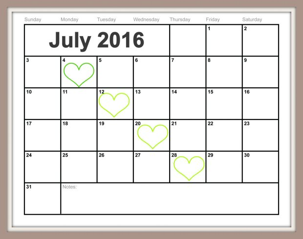 Free Printable July Calendar {Easy-Print 2015 2016 2017}