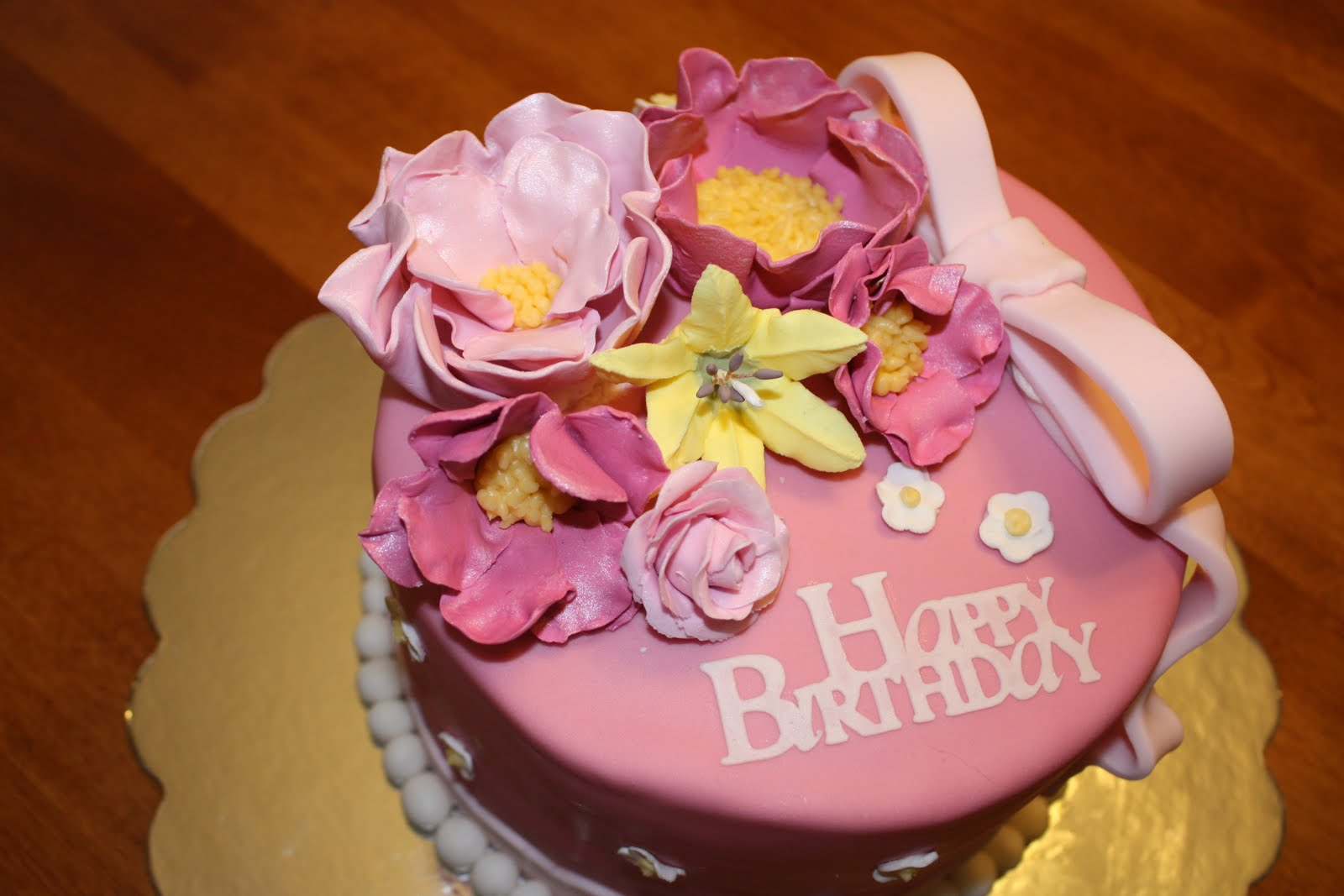 Flower Birthday Cake With Candles Quotes