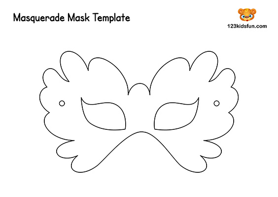 Free Printable Masquerade Masks Template 123 Kids Fun Apps