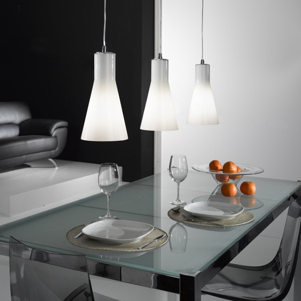Glas Pendelleuchte Suspension Design Triple Diana | Lampe Suspendue
