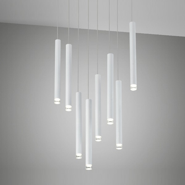 Lampe Led Suspension Led Design Shooting Blanc | Supension Led