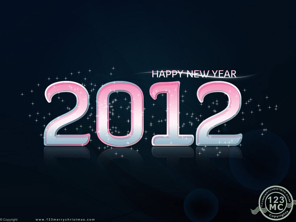Champagne Wallpaper Happy New Year 2012 Glitter Wallpaper