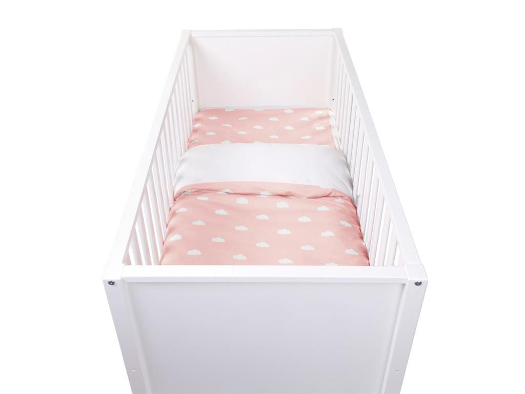 123 Tv Bettwäsche Childhome Baby Bettwäsche Snoozy Clouds Old Pink