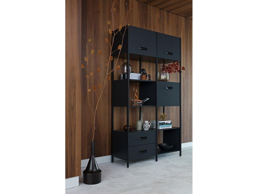 Regal Metall Schwarz Holz Bepurehome Legacy Regal Holz Metall Schwarz Höhe 220 Cm
