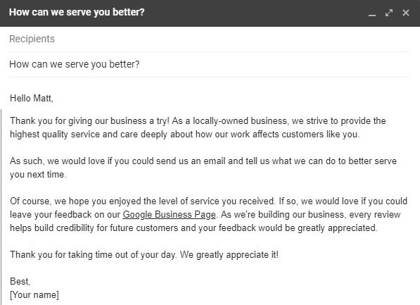 3 Email Templates for Local Businesses Asking for Reviews