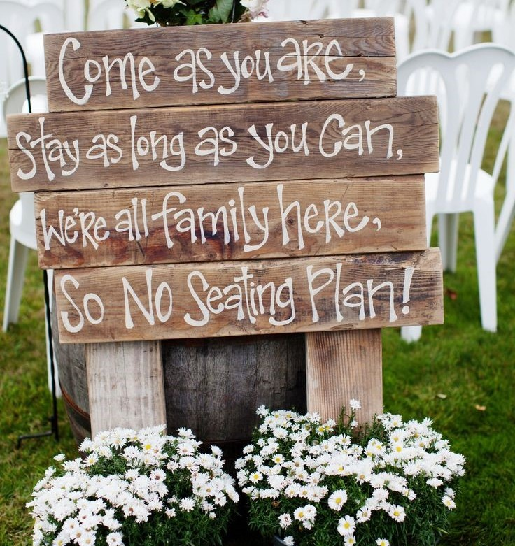 Do You Need Cute Wedding Signs? - Wedding for $1000