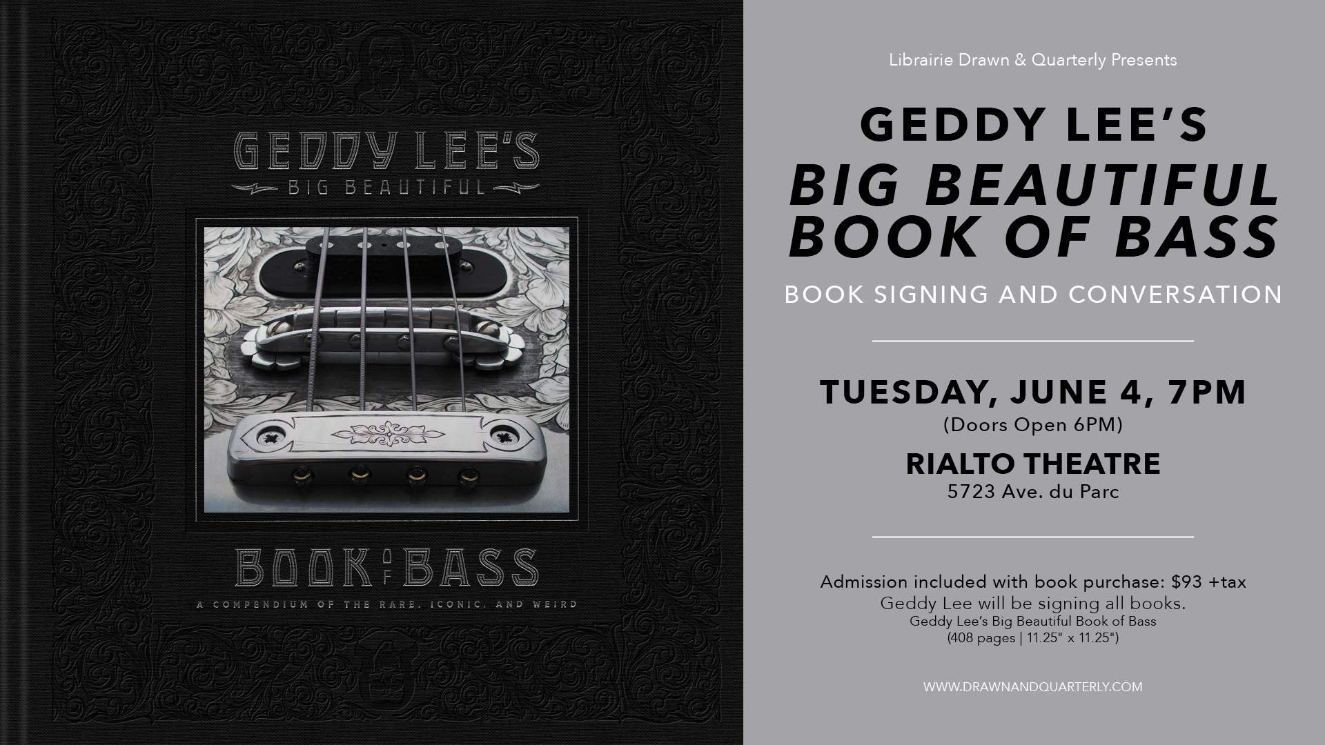 Pop Up Book Fair Montreal Geddy Lee Launches Geddy Lees Big Beautiful Book Of Bass