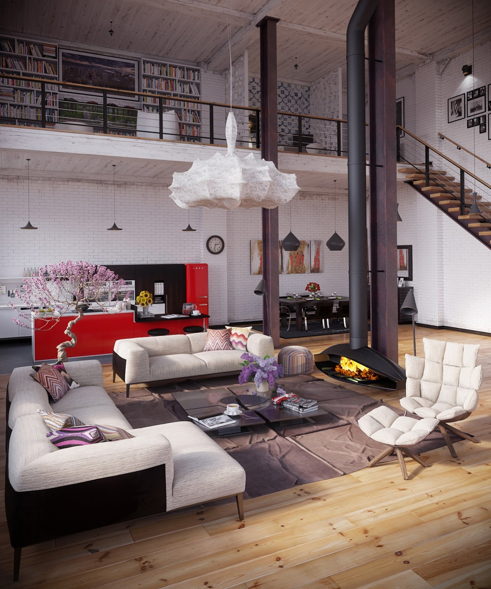 40 Loft Decor Ideas How To Furnish A Modern Loft Apartment Free Autocad Blocks Drawings Download Center