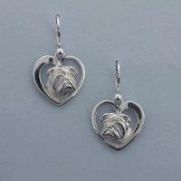 Sterling Silver Bulldog Earrings, 14k-9 Inc Designers of ...