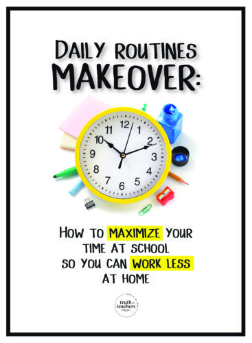 Teacher daily schedule makeover How to maximize your time at school